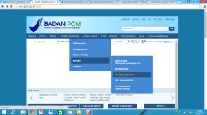 Tampilan website BPOM (hhtp://pom.go.id)
