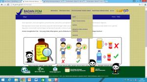 Tampilan Menu Pencegahan Keracunan Obat (http://ik.pom.go.id/v2014/obat)