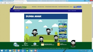 Tampilan menu Dunia Anak (http://ik.pom.go.id/v2014/dunia-anak)